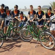 schoolreis barcelona fietstocht