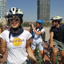 barcelona met school fietsen