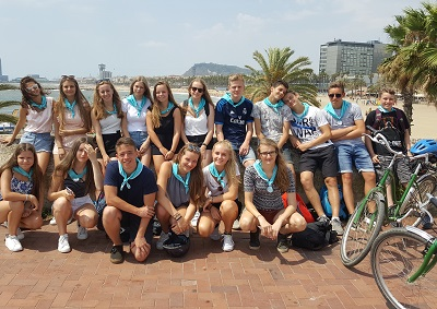 barcelona fietstocht schoolreis scholen