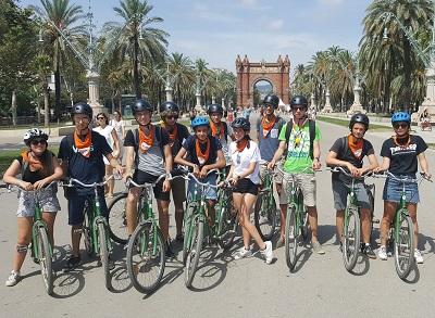 barcelona fietstocht schoolreis