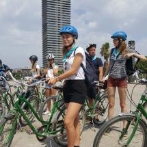 schooluitstap barcelona fietstocht