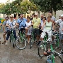 Barcelona met groep fietstour