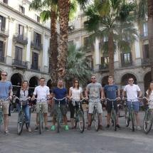 Barcelona fietstocht me groep
