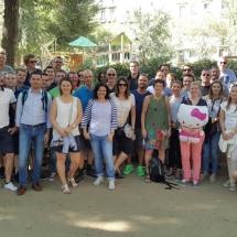 Barcelona met groep